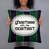 Ghostess Throw Pillow