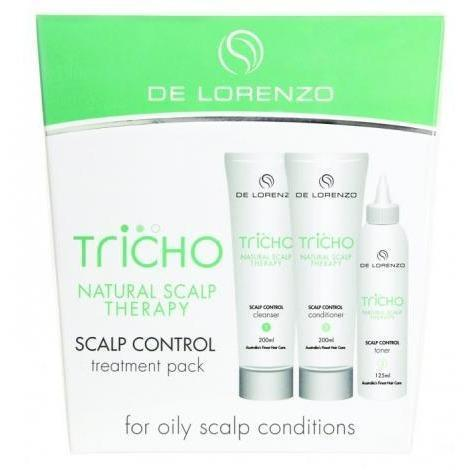 De Lorenzo Tricho Solutions Control Pack - Cleanser 200ml, Condioner 200ml & Toner 125ml