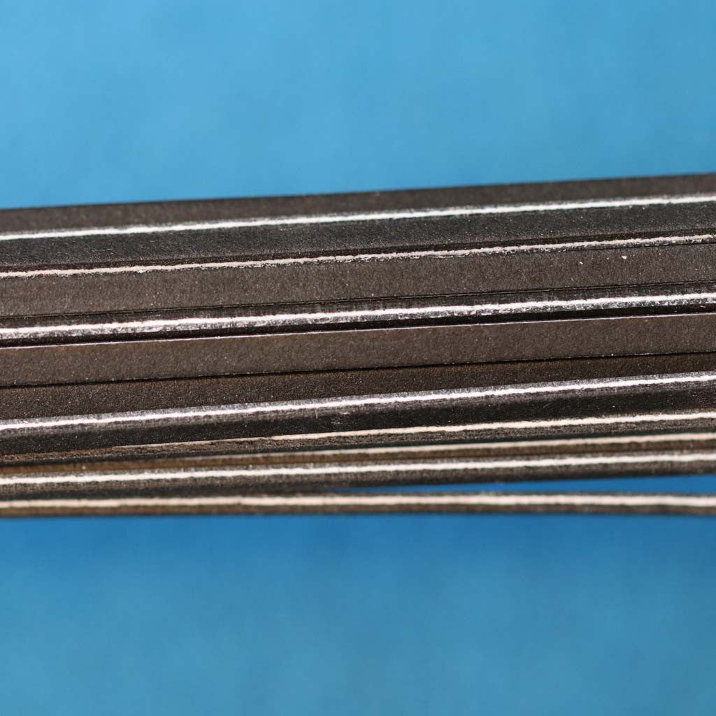 Black / White / Black Fiber Strips