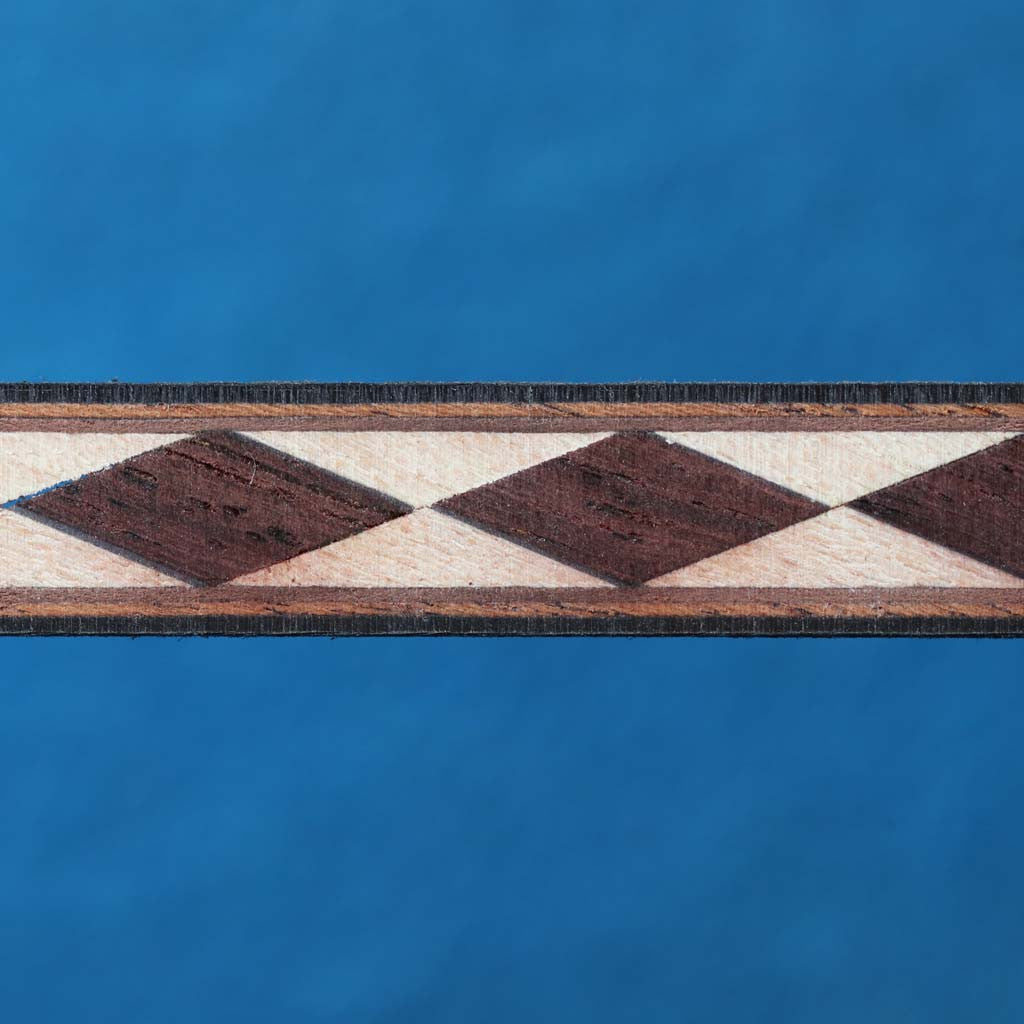 Diamond Pattern, Indian Rosewood/Mpl Inlay Strip