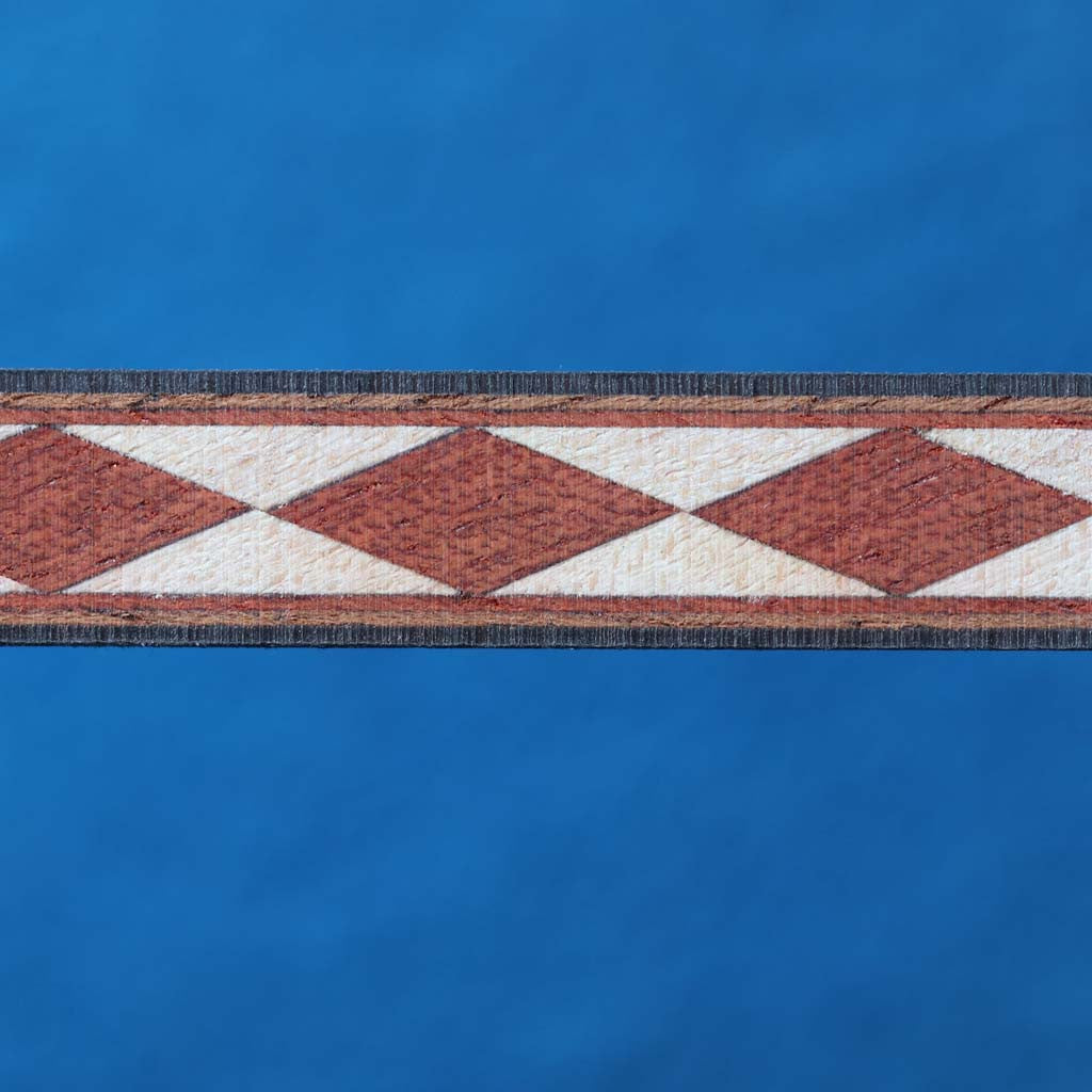 Diamond Pattern, Bloodwood/Mpl Diamond Inlay Strip