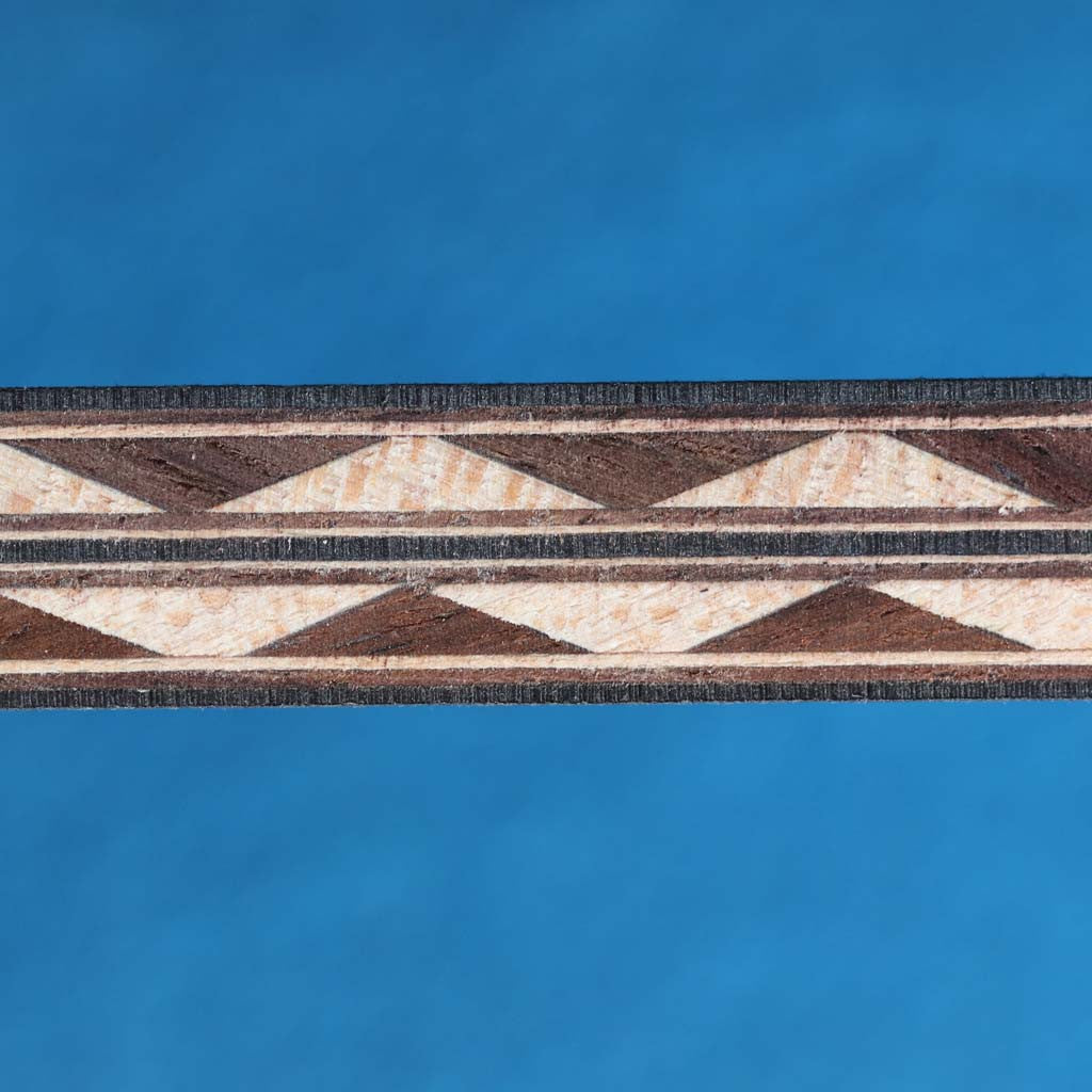 Zig Zag Pattern Indian Rosewood / Maple Inlay Strip