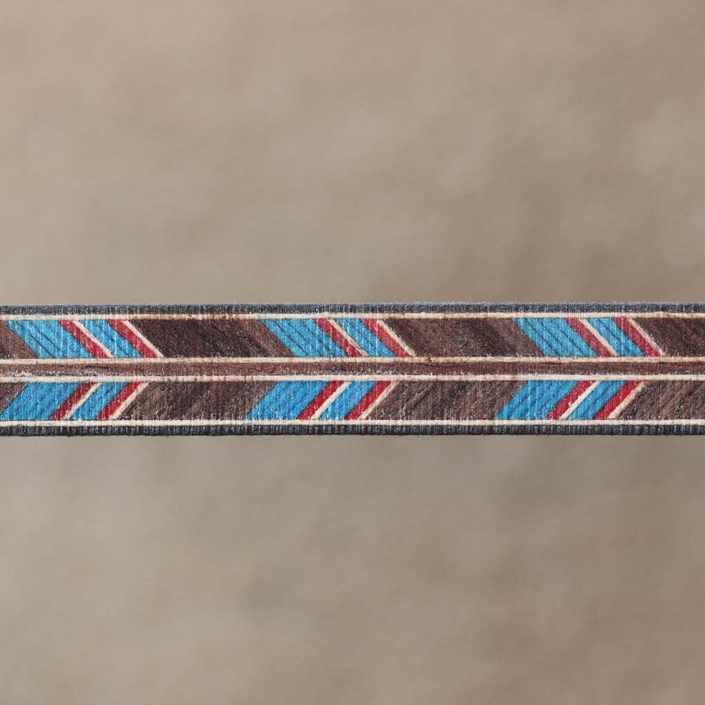 Herringbone Pattern, Rw/Blue/Red/Mpl Inlay Banding Strip