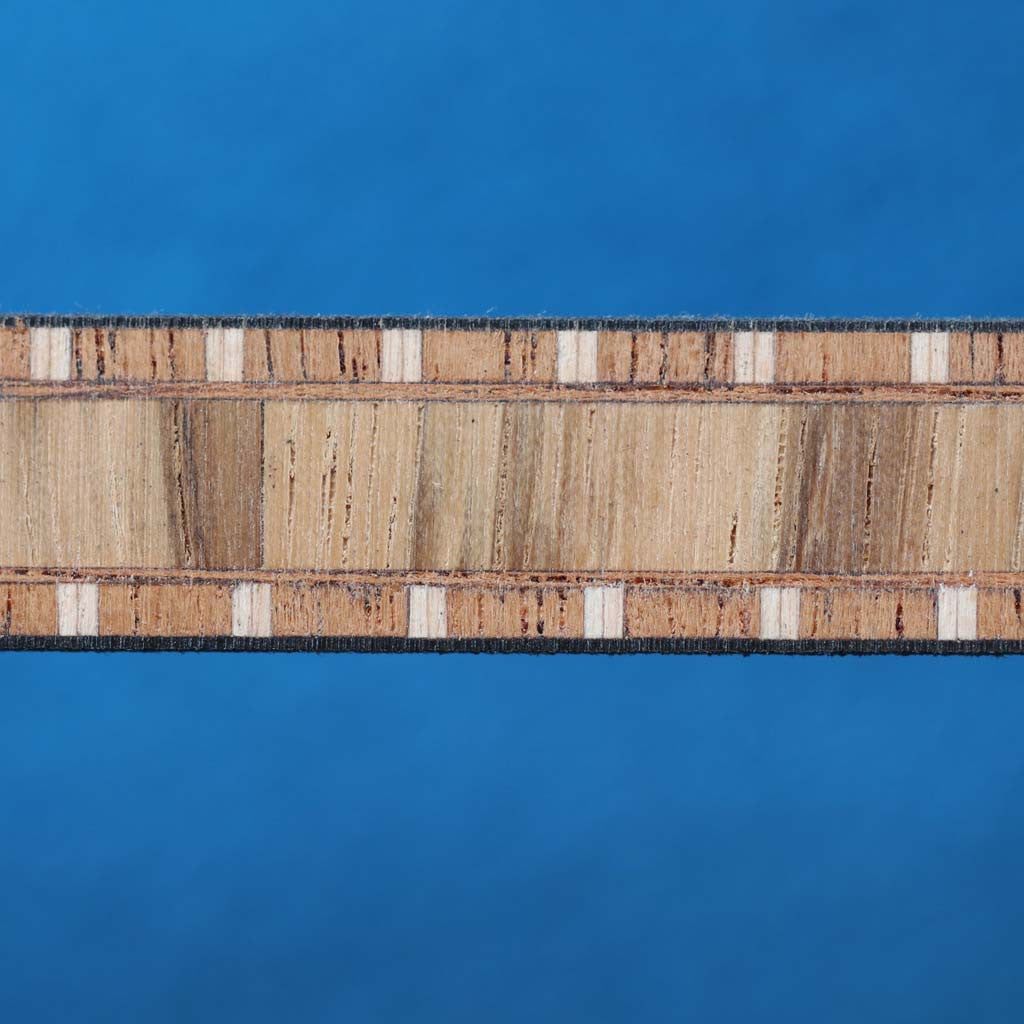 Ladder Pattern, Zebra/Mahogany Inlay Banding Strip