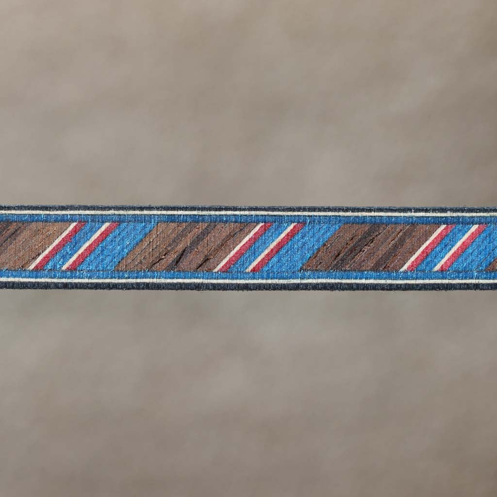 Rope Pattern, Indian Rosewood/Blue Fiber Inlay Banding Strip