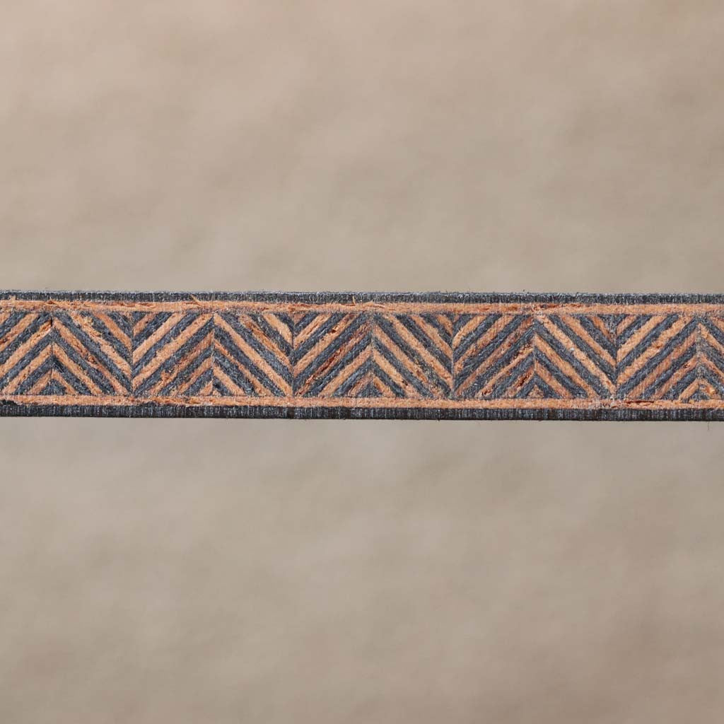 Zipper Pattern, Black/Mahogany Inlay Banding Strip