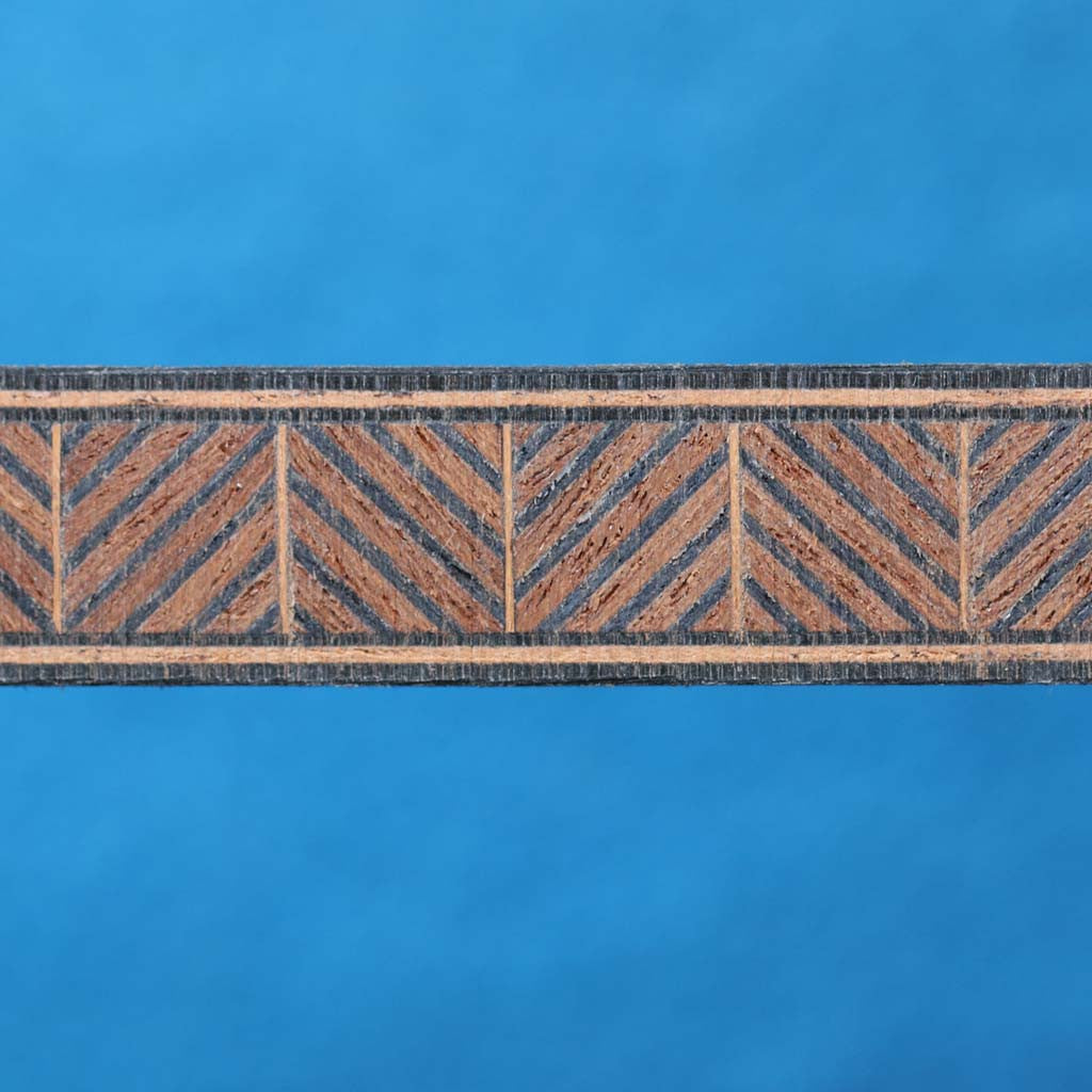 Zipper Pattern, Mahogany/Black Inlay Banding Strip
