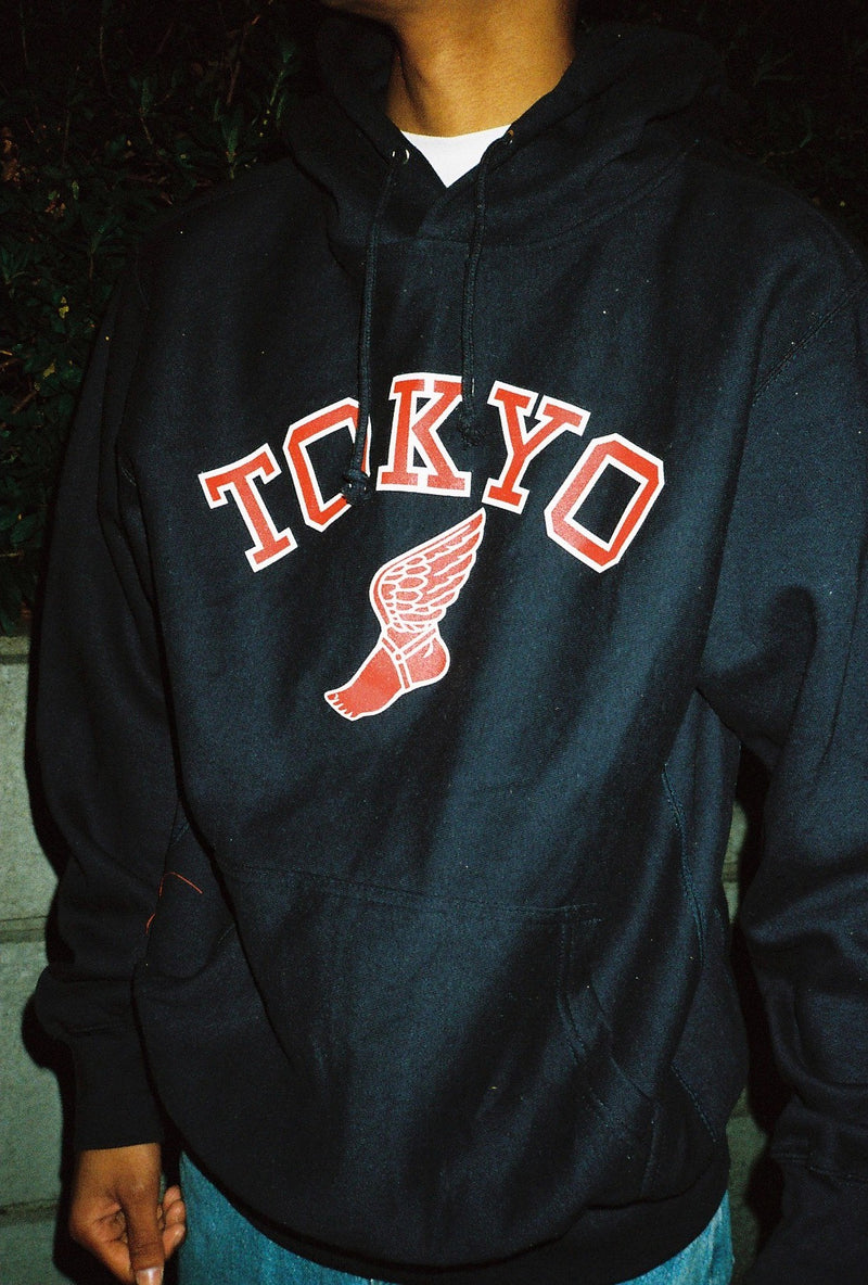 Tokyo athletic club Winged Foot Hoodie / Navy