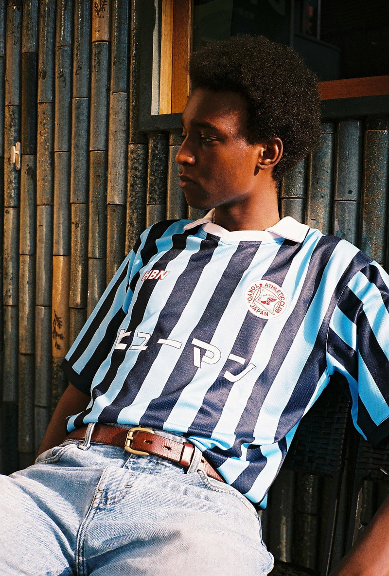 89' Double blue stripe away jersey #11