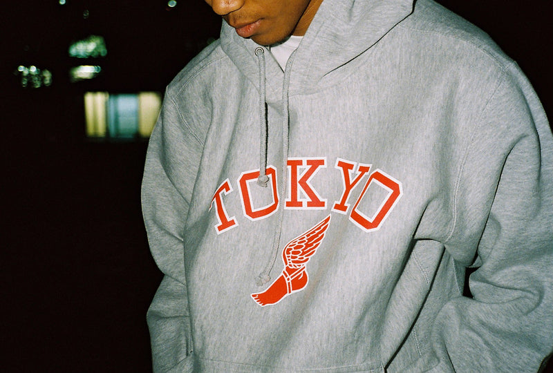 Tokyo athletic club Winged Foot Hoodie / Grey