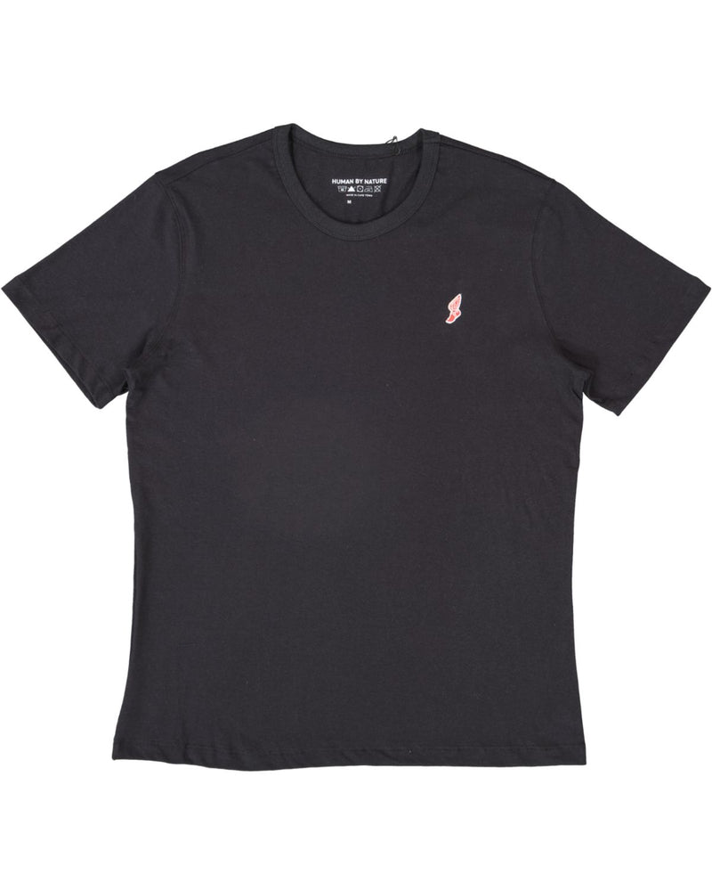 Tokyo Athletic Club Winged Foot Embroidered Logo Tee / Black