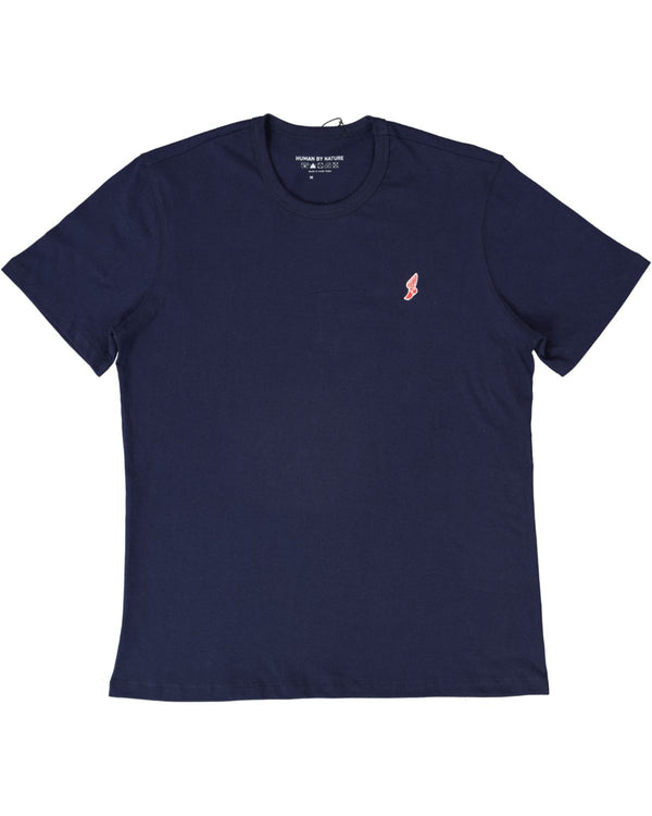 Tokyo Athletic Club Winged Foot Embroidered Logo Tee / Blue