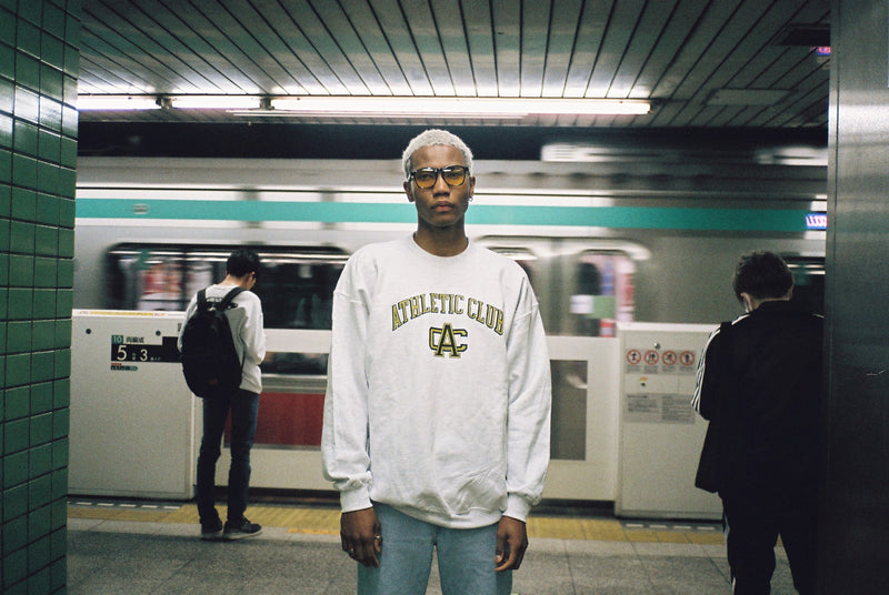 Black and gold Tokyo athletic club crewneck