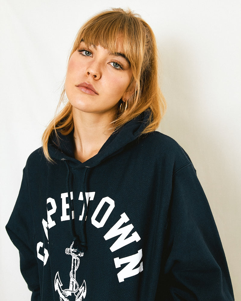Cape Town Nautical Hoodie Navy Blue