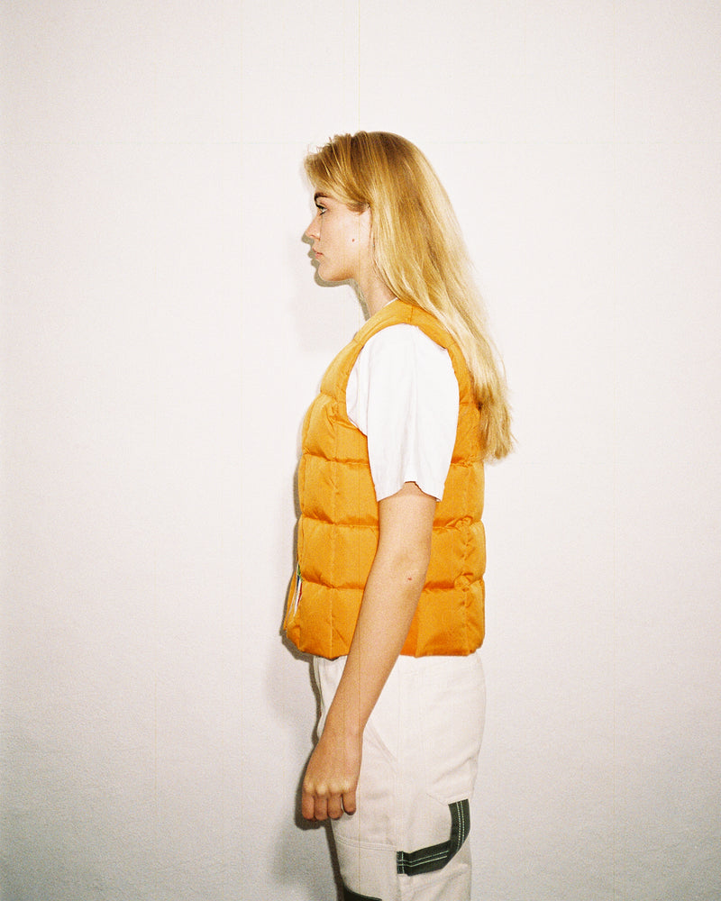 Vintage French down vest