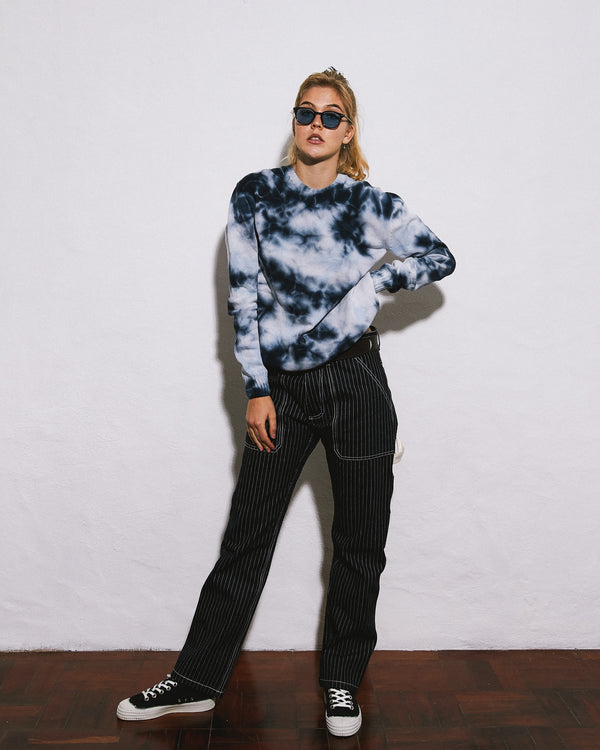 Crushed Ice Cotton Crush-dye Sweater