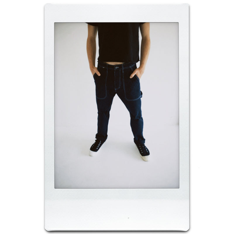 Indigo Pinstripe Selvedge Painter Pants