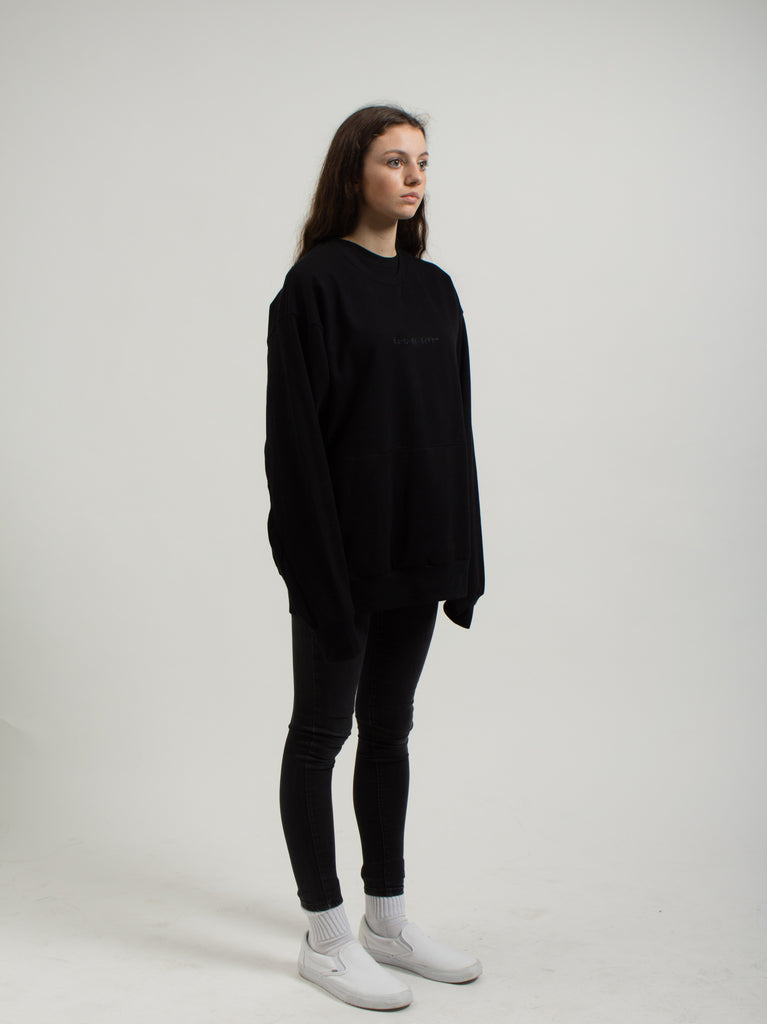 "Japanese ""Human By Nature"" Slit-pocket Crewneck"