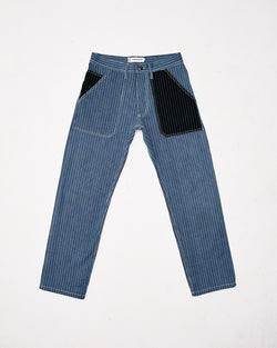 Bleached Pinstripe Selvedge Patch Pocket Denim