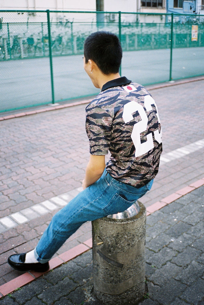 92' TAC Tiger Camouflage Away jersey #23