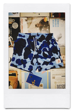 Tokyo athletic club blue camo training shorts