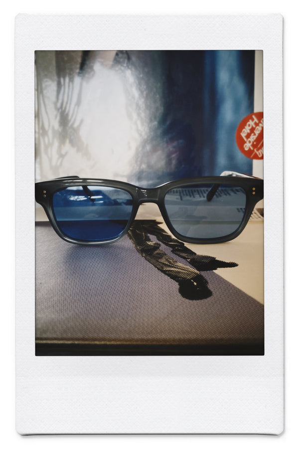 HOLLY vintage style sunglasses Sea Blue