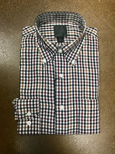""" F/X Fusion "" Brick/Ecru Check Button Down Long Sleeve Dress Shirt"