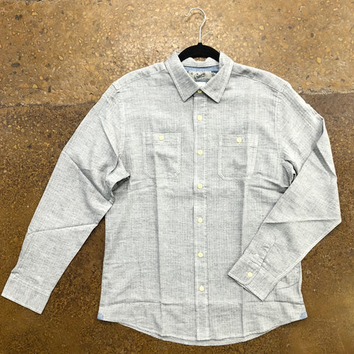 Grayers Charcoal Herringbone Button Up
