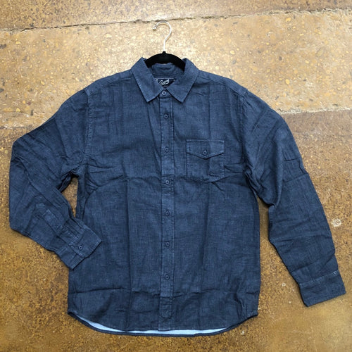 Grayers Navy Heather Button Up