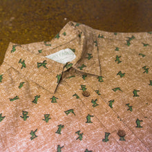 """ Joe "" Light Brown with Army Man Short Sleeve Button Down Shirt"