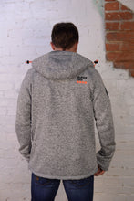 """ Super Dry Storm "" Grey Double Zip Hoodie"