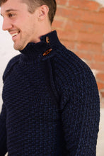 """ LCR Sweater "" Navy with Wood Button Details"