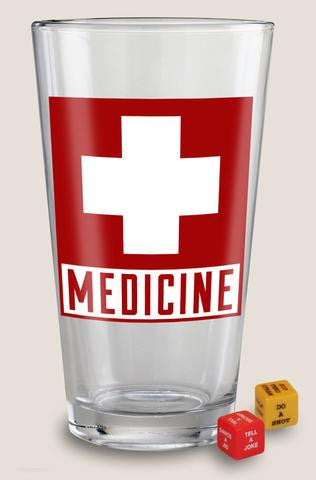 Medicine Pint Glass
