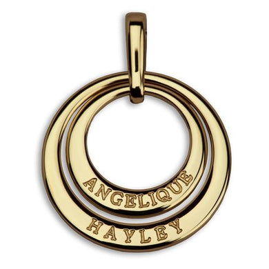Charmour Small Personalised Double Ring Pendant - (SO)