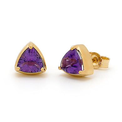 9ct Amethyst Stud Earrings