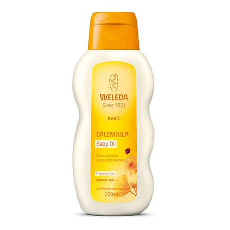 Calendula Baby Oil Fragrance Free 200ml
