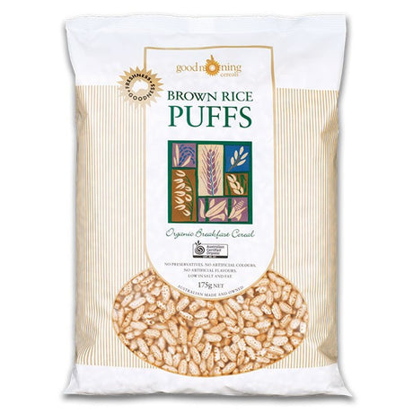 Organic Puffed Brown Rice 175g