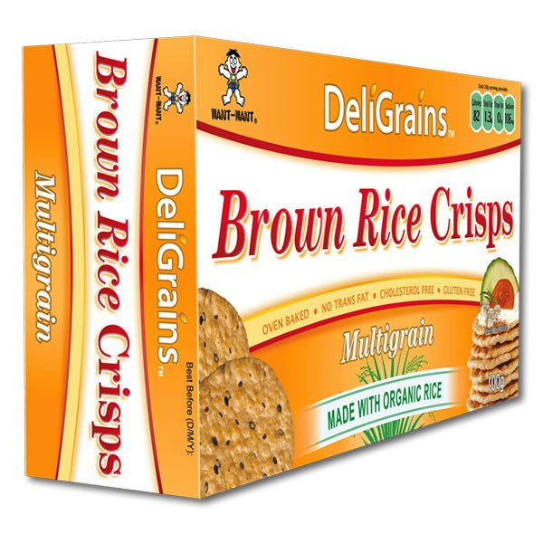 DeliGrains Organic Brown Rice Crisps Multigrain 100g