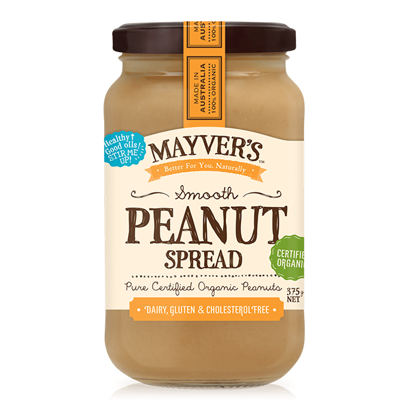 Mayvers Organic Peanut Spread Smooth 375g