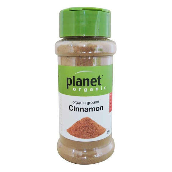 Organic Ground Cinnamon (Jar) 45g