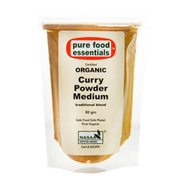 Organic Curry Powder Medium 80g (Sachet)