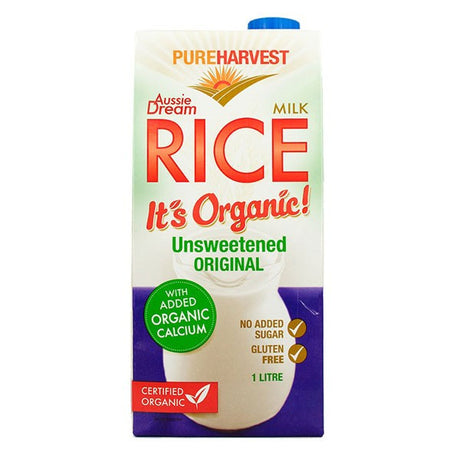 Organic Rice Milk Calcium Enriched - Aussie Dream 1L