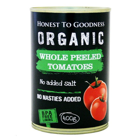 Organic Whole Peeled Tomatoes 400g - BPA Free