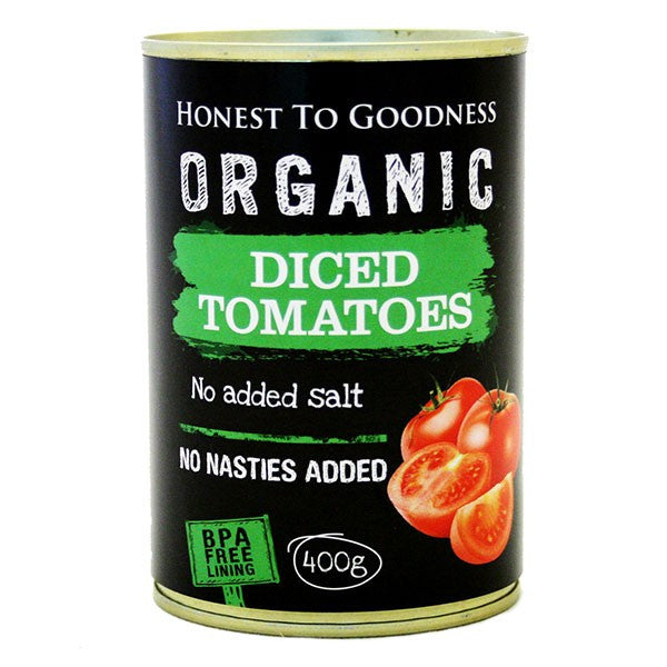 Organic Diced Tomatoes 400g - BPA Free: Bulk Up