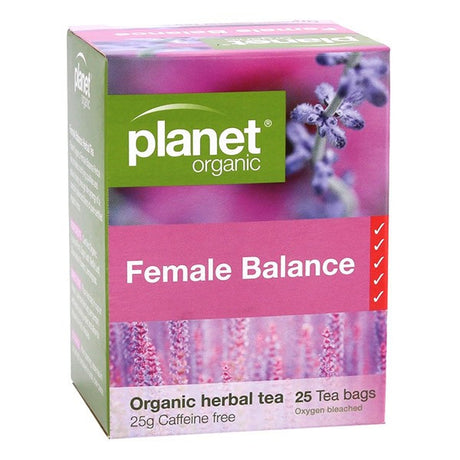 Planet Organic Female Balance Tea Bags x 25