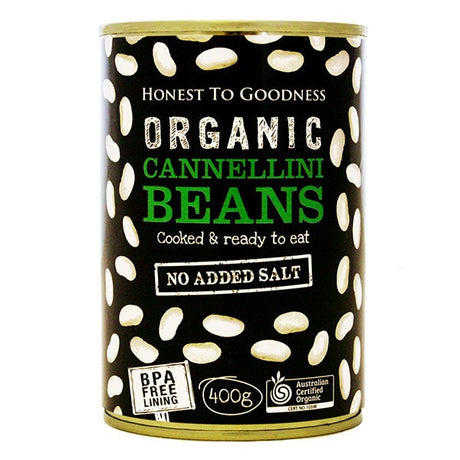 Organic Cannellini Beans 400g - BPA Free (Cooked): Bulk Up