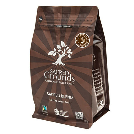 "Organic""Sacred Blend"" Plunger Coffee (SG) 250g"
