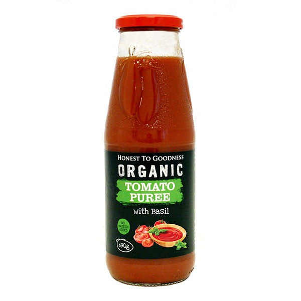 Organic Tomato Puree with Basil 690g