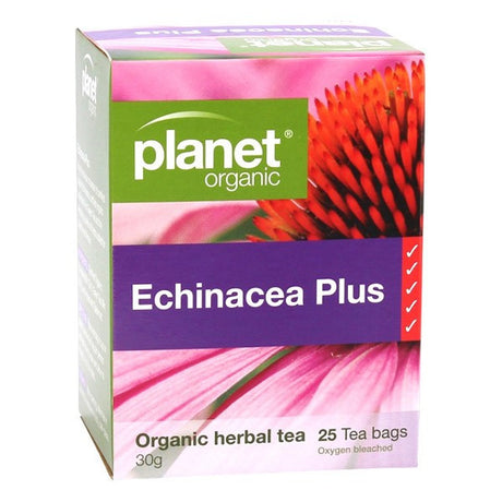 Planet Organic Echinacea Plus Tea Bags x 25