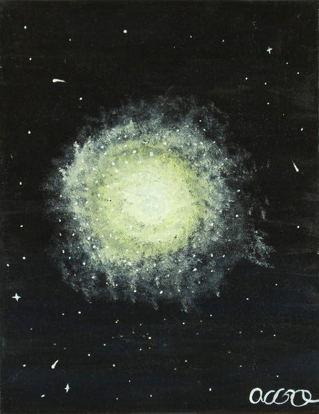 Gouache painting of Ursa Major constellation by a Andrea García.